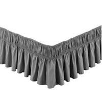 королева размер кровати бесплатная доставка оптовых-Free shipping dark gray without bed surface elastic band bed skirt purple red apron twin full queen king size bedspread