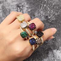 echte verlobungsringe china großhandel-Klassische Luxus Echt Solide Diamant Hochzeit Schmuck Ringe Engagement Für Frauen CZ EWIGKEIT BAND ENGAGEMENT HOCHZEIT Stein Ringe