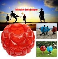 şişirilebilir gövde topları toptan satış-Şişme Vücut Tampon Topu PVC Hava Kabarcığı 90 cm Açık Çocuk Oyun Kabarcık Tampon Topları Açık Hava Oyunları OOA4915
