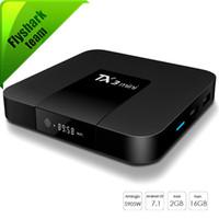 videolar 2gb toptan satış-Android 7.1 Akıllı TV Kutusu TX3 Mini ile 4 K H.265 1080 P Video Akış Amlogic S905W 1 GB / 2 GB 16 GB Android Kutuları