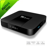 caixa mini android hd venda por atacado-Android 7.1 Caixa de TV Inteligente TX3 Mini com 4 K H.265 1080 P IPTV Streaming Amlogic S905W 1 GB GB / 2 GB 16 GB Caixas de Android