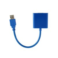 Wholesale usb vga external display adapter for sale - Computer Office Computer Cables Connectors USB to VGA Multi Display Adapter Converter External Video Graphic Card Hot Worldwide