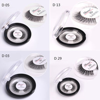 Wholesale free 3d hair - 3D Mink Hair Eyelashes with Round Retail Box 4 Style Fur Eyelashes Messy Eye lash Extension Sexy Eyelash Full Strip DHL Free Shipping