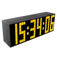 Wholesale Led Digital Countdown Timer - CH KOSDA LED Multifunction Digital Countdown Timer Large Wall LED Clock Table Wall Desk Alarm Clock Home Decor Alarm