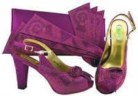 ботинки сочетаются с муфтами оптовых-2018 Африканский стиль обувь и сумка соответствующий набор женщин конструкции итальянская обувь с соответствующей сумкой высокие каблуки и клатчи мешок