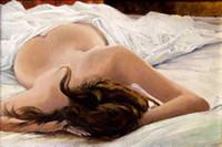 niñas desnudas pinturas al óleo arte al por mayor-Pintura al óleo hecha a mano niña desnuda pintura al óleo mujer desnuda arte de la lona pinturas al por mayor del arte moderno sofá conjunto diseño único regalo Kungfu A