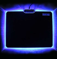 Wholesale cool laptops for sale resale online - Hot Sale Cool Glowing Mouse Pad x240mm Non skid Rubber Bottom LED Light Edge Mousepad For Laptop Desktop PC Board Video Game