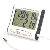 termómetro para interiores al por mayor-Uso Doméstico DC103 LCD Digtal Display Termómetro Estación Meteorológica Temperatura de Humedad Higrómetro Interior de Interior para el Hogar AAA739