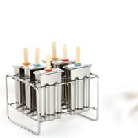 ev dondurma makineleri toptan satış-Pratik Paslanmaz Çelik Popsicle Kalıp Dayanıklı 6 Hücreleri Dondurulmuş Buz Küpü Kalıp Ev DIY Ices Krem Maker Araçları En Kaliteli 83px BB