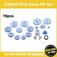 Wholesale Metal Forges - Free Shipping! CQ0618-G19 Metal Gears 19pcs Metal Gear Kit(Metric) 0618 gears Whole set of change gear
