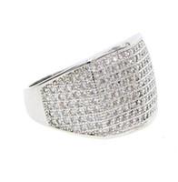 usa shipped jewelry venda por atacado-Fábrica de alta qualidade transporte da gota EUA venda quente miami menino legal dos homens jóias de prata bling hip hop jóias anel