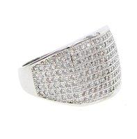 bijoux chauds cool achat en gros de-Top qualité usine drop shipping USA vente chaude miami garçon hommes cool bijoux argent bling hip hop bijoux anneau
