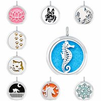 Wholesale sea magnets resale online - Sea Horse Peacock Mouse mm Magnet Essential Oil Aromatherapy Perfume Pendant Diffuser Locket Pendant Fit For Necklace Women Jewelry