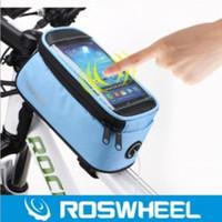sacoche pour vélo achat en gros de-2019 Roswheel 12496 vtt sac de vélo accessoires sac de vélo sac de cyclisme sacs panier sacoche vélo téléphone cas 5,7 pouces livraison gratuite