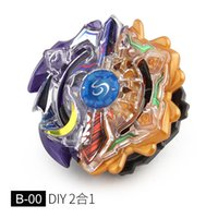 Wholesale fighting tops online - Metal Fighting Legend Fury Beyblade New DIY Tops Purple And Orange Metal Battle Top Toy
