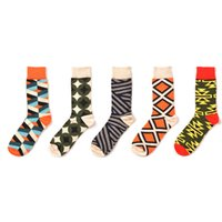 Wholesale zebra sock animal online - 5 pairs a New arrival Men Socks happy socks Cotton Zebra Cross Stitch Stripped Crew Hip Hop funny fashion Street Wear
