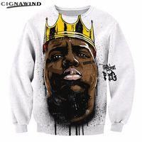 biggie sweatshirts großhandel-Neue Harajuku 2pac Tupac Hoodies Männer / Frauen Langarm Pullover Biggie Smalls 3D-Druck Sweatshirts Hip-Hop-Stil Streetwear Tops
