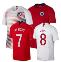 Wholesale Alexis Sanchez - Chile 2018 World Cup home away jersey 18 19 Chile soccer jerseys Sanchez ALEXIS VIDAL MEDEL football jersey shirt