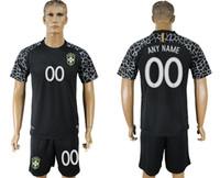 Wholesale Cheap Tracksuits - Argentina soccer jersey 2018 19 BRAZIL ANY NAME 00 survetement tracksuit cheap shirt Black retro uniforms kit jerseys 2018 World Cup Jersey