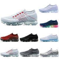 Wholesale colorful sneaker laces resale online - With Box Air Cushion Mxamropavs Women Men Running Shoes Colorful White Black Grey Blue Red Rainbow Jogging Walking Outdoor Sports Sneakers