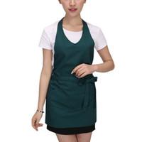 restoran sat toptan satış-Sıcak Satış Kadın Erkek Pişirme Apron Mutfak Pişirme Önlük Cafe Restaurant Şef Garson Garson Ev Temizlik Araçları