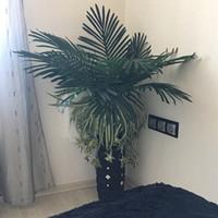 Wholesale Wholesale Decorative Leaves - 69cm Long Artificial Palm Leaves 10pcs Green Plants Decorative   Artificial Flowers for Party Decoration Wedding Decoration