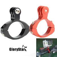 ingrosso eroi della bici-Glorystar CNC alluminio bici moto manubrio roll bar holder per GoPro Hero 7 6 5 4 3 per Xiaomi Yi SJ4000 Action Camera