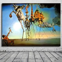 Wholesale abstract free wallpaper - Hot sall Salvador Dali Paintings Rose The Best Wallpaper Arts And Literature free shipping