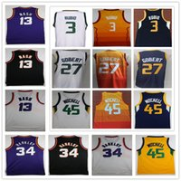Wholesale basketball barkley - Hot Men's Ncaa college jerseys 13 Steve Nash 34 Charles Barkley 45 Donovan Mitchell 3 Ricky Rubio 27 Rudy Gobert vintage Basketball Jerseys