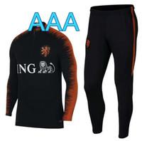 Wholesale track suits jackets - Netherlands Soccer training suit holland top quality 2018 2019 Chaqueta de fútbol SNEIJDER ROBBEN V.PERSIE track suit jacket suit kits