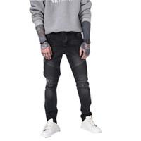 çin moda tasarımı yeni toptan satış-2018 Yeni Orijinal Tasarım Yeni Moda Trendciter Delik Jeans Biker Jeans ücretsiz drop shipping Çin fabrika toptan fiyat