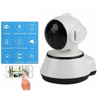 ingrosso mini macchina fotografica hd del ip-V380 HD 720P Mini telecamera IP Wifi Telecamera di sicurezza P2P wireless Telecamera di sicurezza Night Vision IR Robot Baby Monitor Supporto 64G