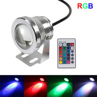 Wholesale Pool Color Led Light - 10W 12v underwater RGB Led Light 800LM Waterproof IP68 fountain pool Lamp 16 color change with 24key IR Remote controller
