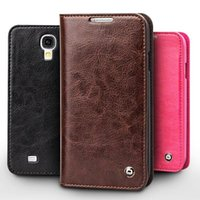 Wholesale slim s4 - Vintage leather flip case for Samsung Galaxy S4, slim leather cover for galaxy S4