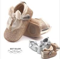 Wholesale toddlers footwear for sale - Group buy kids luxury shoes Girls Bling Sequin Butterfly Princess Shoes Kids Infant Toddler PU Leather Non slip first walker Footwear Prewalker