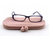 korece gözlük modeli toptan satış-Patlama Modelleri Sevimli Şeker Renk Silikon Gözlük Kutusu Tatlı Uzun Amaçlı Çanta kadın Uzun Bölüm Kore Versiyonu