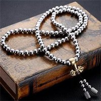 Wholesale full hand bracelets for sale - Group buy 108 Buddha Beads Necklace Chain Outdoor Full Steel Hand Bracelet Chain Personal Protection Multi Tools Titanium Steel jg dd