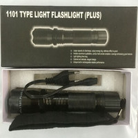 Wholesale white led flashlights - Hot Sale New 1101 1102 Type Edc Linternas Light LED Tactical Flashlight Lanterna Self Defense Torch Free Shipping