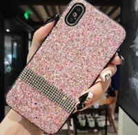 ingrosso samsung star gold-Custodia per cellulare con diamanti per iPhone Iphone 7 I7 Custodia per smartphone con cristalli dorati