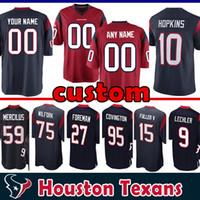 hopkins jersey venda por atacado-95 Christian Covington Personalizado Houston Jersey Texans 22 Aaron Colvin 75 Vince Wilfork 56 Brian Cushing 84 Ryan Griffin 10 Hopkins será mais completo