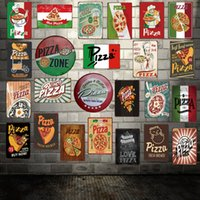 Wholesale italy home decor resale online - Mike Decor Pizza Italy Classic Collection Metal sign Retro Posters Gift Iron Painting Hotel Home Store decor FG