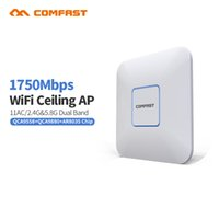 Wholesale powered access - 4pcs DHL COMFAST CF-E380AC 1750M High Power Dual band Router Indoor Ceiling Wireless WiFi AP Access Point Repeater Wi fi Access