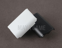 Wholesale xbox for parts - Black & White Battery Pack Cover Shell Shield Case Kit for XBOX360   Xbox 360 Wireless Controller Replacement parts