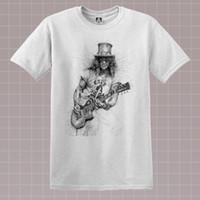 ingrosso camicie rock indie-T-shirt Slash Sketch Rock Music Guns Velvet Roses Tee Indie Music Revolver Topdiscout hot new top t-shirt gratuita