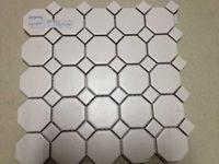 Wholesale Building Wall Tile - Wholesale-White porcelain mosaic tile for bathroom shower wall floor,Kitchen backsplash tiles,Toliet decor,home building material,LSTCBJ02
