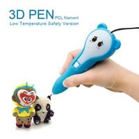 arduino drucker groihandel-3D Stift PCL MODAR mit niedriger Temperatur Sicherheit Version 3D Doodler Zeichnung Drucker Druck Stift Geschenke Spielzeug für Mädchen Kinder Erwachsene Blau Rosa
