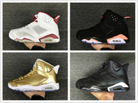 Wholesale infrared hunting - Drop shipping 6 mens basketball shoes top quality 6s hare sneaker Infrared Oreo black cat sneaker Pinnacle Metallic Gold Running Shoe