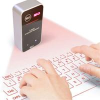 virtuelle drahtlose tastatur großhandel-Laserprojektionstastatur Portable Mini Wireless Virtual Keypad Bluetooth-Tastatur mit Mausfunktion