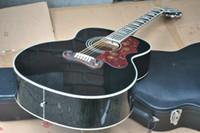 acústica personalizada venda por atacado-KSG personalizado 12 cordas violão chinês feito jumbo 43 polegadas 12 cordas violão acústico preto acústico frete grátis