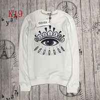 Wholesale Embroidered Sweatshirt Xl - 2017 KEVZO Europe Paris American KENZO11 fleeces Sweater embroider Fashion Men Woen o-neck Cap Hoody Sweatshirt Women Hoodies lady Hoodies